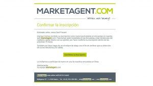 marketagent ventana de confirmación